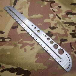 usa edc gear stainless steel ruler outdoor