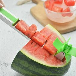 Watermelon Slicer Knife Fruit Windmill Cutter Scoop Stainles