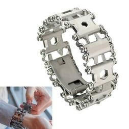 Multifunctional Practical Tread Bracelet Stainless Steel Mul